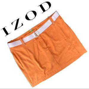 Golf Skirt Golf Skort Tangerine Orange White Belt
